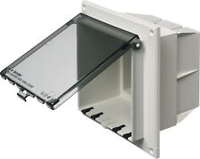 NEW - Arlington DBVR2C Vertical Two-Gang Low Profile InBox with Clear Cover