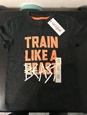 Cat & Jack Basket Ball Tshirt Size 4/5 Black Orange