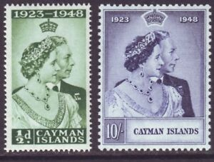 Cayman Islands 1948 SC 116-117 MH Set Silver Wedding