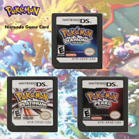 Pokemon Diamond Platinum Pearl Version Game Card Nintendo 3DS NDSI NDS Lite aF01