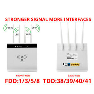 Unlocked CPE LTE Modem 4G Router Smart Mobile WIFI Hotspot SIM Card RJ45 LAN