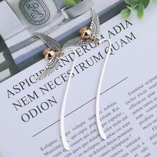 2 Stück Flügel Snitch Metall Lesezeichen Potter Charm Binder Index Sehr eNwrg