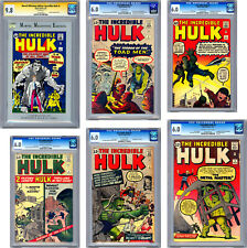 INCREDIBLE HULK #1-2-3-4-5-6 CGC-SS *1ST ISSUE MME REPRINT* SIGNED STAN LEE 1962