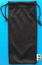 "Under Armour Sunglasses Eyeglasses Pouch Case Bag Soft Black New 3.75"" x 7.5"""