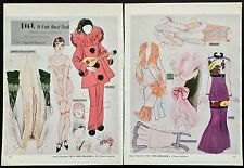Fifi, A Felt Bed Doll Paper Doll, Peggy Jo Rosamond Artist, Mag. PD. 1985