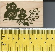 """Owl Family"" Rubber Stamp by Stampabilities"
