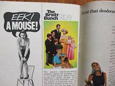 1969 FALL PREVIEW TV Guide(THE  BRADY  BUNCH/BRACKEN'S  WORLD/ROOM 222/BOLD ONES