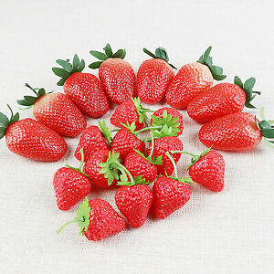 Photography Prop Fake Strawberry Home Realistic Fruit Artificial Strawberries