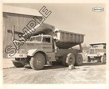 1951 AUTOCAR DC200 EASTON Side Dumps, COLUMBIA QUARRY CO,Illinois 8x10 B&W Photo