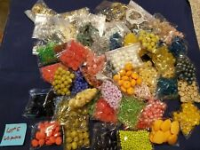 Lot Of Jewelry Beads, Pins, Findings Etc (60 Bags) Ast Colors Size Styles - #5