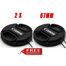 2 Pack Canon 67mm Lens Cap Cover for Canon 70D 700D 60D 600D 18-135 17-85 Lens