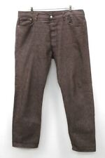mens brown LEVIS 501 XX jeans shrink to fit classic button fly 42x 34