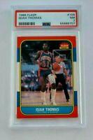 Isiah Thomas 1986 Fleer #109 PSA 7 NM RC Detroit Pistons NBA HOF Rookie Centered