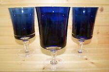 "Denby Mirage Blue (3) Water Goblets, 6 3/8"""