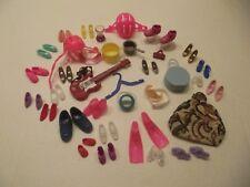 Large Lot of Barbie Ken and Friends Dolls Accessories Shoes Purses Helmets Boots