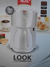 Melitta Aroma Filter Kaffeemaschine Look Therm weiß Thermokanne 8-12 Tassen