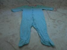 Baby Girl 0-3 Months Gerber Turquoise Pink Floral Footed Zip Up  Ruffle Sleeper