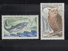 France 1972 Nature Owl Sc 1338-1339 Complete Mint never Hinged