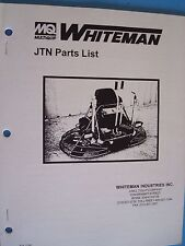 MQ Whiteman JTN  Power Trowel Parts List  P/N 11261  1/96