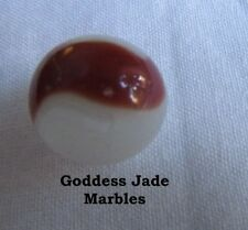 """Antique Akro Agate Silver Oxblood 5/8"""" Goddess Jade Marbles"""