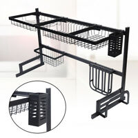 Stainless Steel Over Sink Dish Drying Rack Bowl Shelf Kitchen Cutlery Holder USA