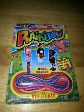 Chinese Jump Rope (Ching Chong) w/Instructions HOT Rainbow Colors Stretches NEW