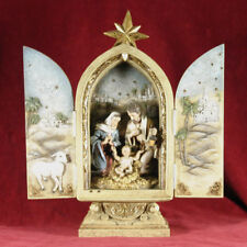 "Joseph's Studio by Roman Holy Family Triptych Figurine 10"" Tall"