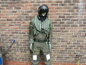 Helicopter Pilot Costume Loadout.Immersion Suit (M) Helmet/Life Vest/Gloves More