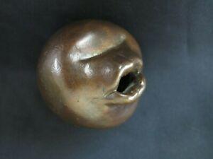 "Lost Wax Cast Bronze ""Mouth""  Initialed Decorative Wall Sculpture Sachika Iwata"