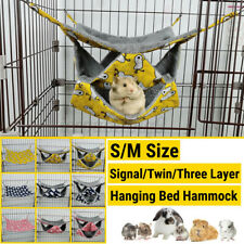 1-3 Layer Hamster Hammock Canvas Small Pet Rat Bird Parrot Hanging Bed