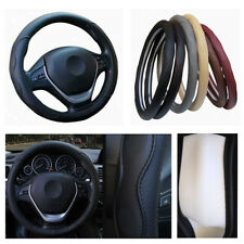Car Steering Wheel Cover Black PU Leather Massage Palm Adapt Extreme Temperature
