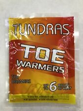 Tundras toe Warmers Safe and Odorless Single Use Heat last up to 6 hrs