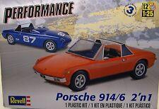 1972 PORSCHE 914/6 PERFORMACE SERIES REVELL 1:25 SCALE 2n1 PLASTIC MODEL CAR KIT