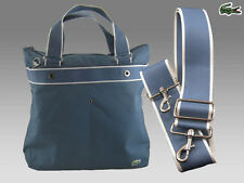 LACOSTE Womens Shoulder Vertical TOTE Bag New City Casual13 Jeans Blue AUTHENTIC