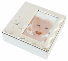 Silver Plated Baby Keepsake Box Baby Memory Box Baby Photo Keepsake Box