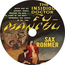 The Insidious Dr. Fu-Manchu, Sax Rohmer Mystery Audiobook on 1 MP3 CD Free Ship