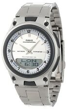 Casio AW80D-7A Mens Data Bank Analog Digital Stainless Steel Dress Watch