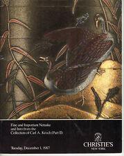 Christies Fine & Important Netsuke Inro Kroch Collection 1987
