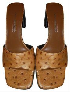 $225 Via Spiga Brown Italian Leather Dark Brown Dots Wynola Peep Toe Size 8.5