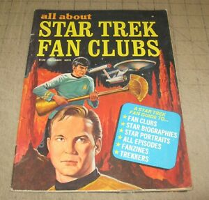 All About STAR TREK FAN CLUBS #1 (Dec 1976) Fair+ Condition Magazine - TOS SPOCK