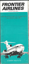 Frontier Airlines system timetable 10/25/70 [8081]