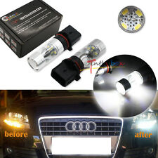 2PC White P13W X-Bright 3535 LED Bulbs For Audi A4 Q5 Daytime Running Lights DRL