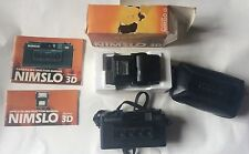 Vintage Cased Japanese Nimslo 3D Camera Instructions & Flash 1982
