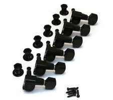 Schaller Black 6 Inline M6 Mini Sealed Tuners Strat/Tele® Guitar TK-0960-003