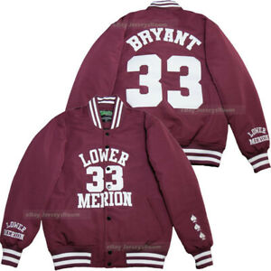 Bryant #33 Lower Merion Basketball Jackets Thick Sweater Hoodie All Stitch