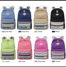 Canvas Bohemian Printing Backpack Women School Bags For Girls Rucksack
