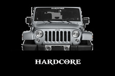 "HARDCORE Windshield Banner Decal 23"" Truck Car Jeep Diesel 4X4 1500 Mud Country"