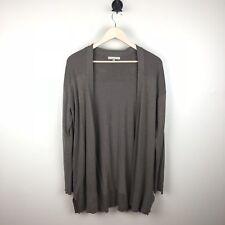 Joan Vass Studio Women's Brown Knit Cardigan Sweater Size Medium