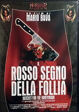 IL ROSSO SEGNO DELLA FOLLIA - Bava DVD Benussi Collin OOP