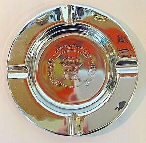 Vintage Chrome Metal Ashtray Cadillac Motor Car Division Emblem Herald Ornament